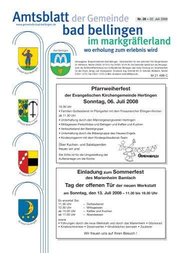 Pfarrweiherfest - Gemeinde Bad Bellingen