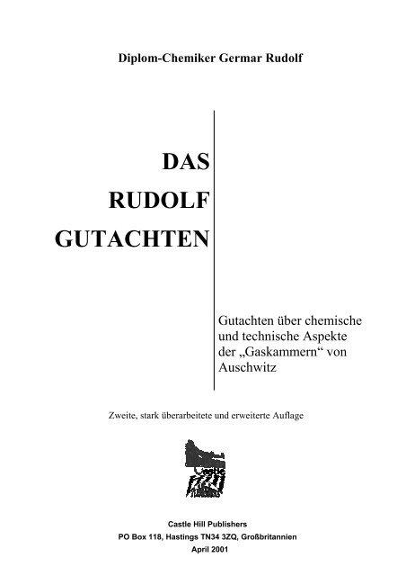 Germar Rudolf: Das Rudolf Gutachten