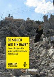 So sicher wie ein Haus? - Amnesty Hagen