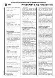PROSCAR® 5 mg Filmtabletten - MSD