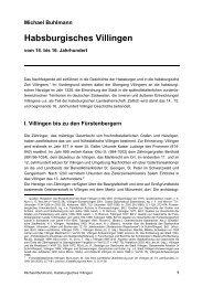 Habsburgisches Villingen - Michael-buhlmann.de