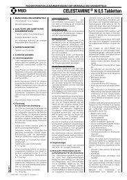 CELESTAMINE® N 0,5 Tabletten - MSD