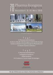 Heidelberg Concept - Pharma-Kongress 2010 - Programm