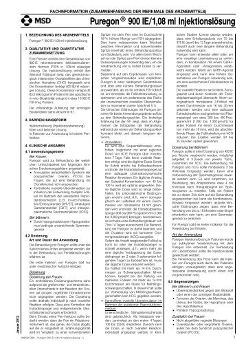 Puregon® 900 IE/1,08 ml Injektionslösung - MSD