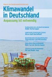 Klimawandel in Deutschland - Anpassung ist notwendig