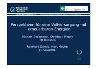 Perspektiven für eine Vollversorgung mit erneuerbaren Energien