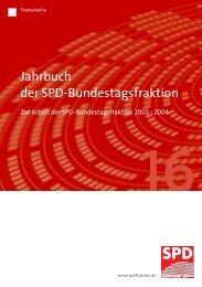 Themenreihe 16 - Jahrbuch der SPD-Bundestagsfraktion