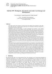 Oderflut 1997: Ökologische, ökonomische und soziale ...