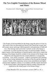 The New English Translation of the Roman Missal and Music