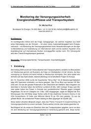 Monitoring der Versorgungssicherheit: Energierohstoffflüsse ... - EEG
