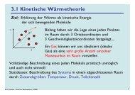 3.1 Kinetische Wärmetheorie