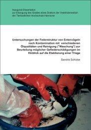 Untitled - Stiftung Tierärztliche Hochschule Hannover