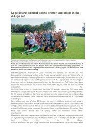 Mittelbadische Presse vom 18.06.2012 - TuS Legelshurst