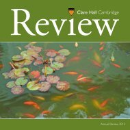 current issue - Clare Hall - University of Cambridge