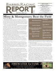 Misty & Montgomery Beat the Field - Barrel Racing Report