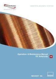 DC Solenoids Operation- & Maintenance Manual - Kendrion