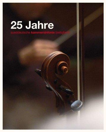 Broschüre herunterladen - Sueddeutsche Kammersinfonie Bietigheim