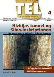 Hizkijas tunnel og Siloa-inskriptionen - Selskab for Bibelsk Arkæologi