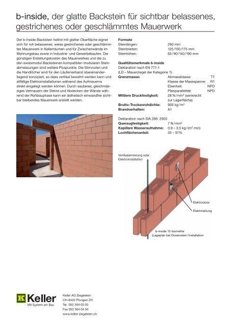 b-inside-Backsteine - Keller AG Ziegeleien
