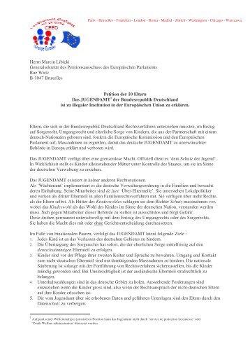 Petition der 10 Eltern - CEED