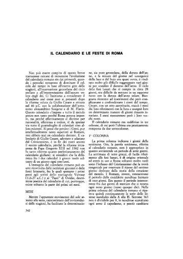 Calendario romano - Blog.edidablog.it