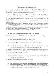 Informacja za rok budżetowy 2010
