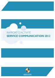 RAPPORT D'ACTIVITÉ SERVICE COMMUNICATION 2012