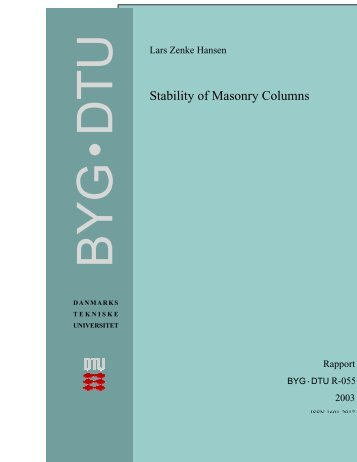 Stability of Masonry Columns - DTU Byg - Danmarks Tekniske ...