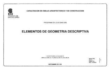 Elementos de geometría descriptiva - Colegio de Bachilleres