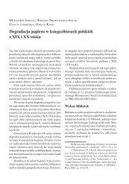 Degradacja papieru w zbiorach polskich z XIX i - Biblioteka Narodowa
