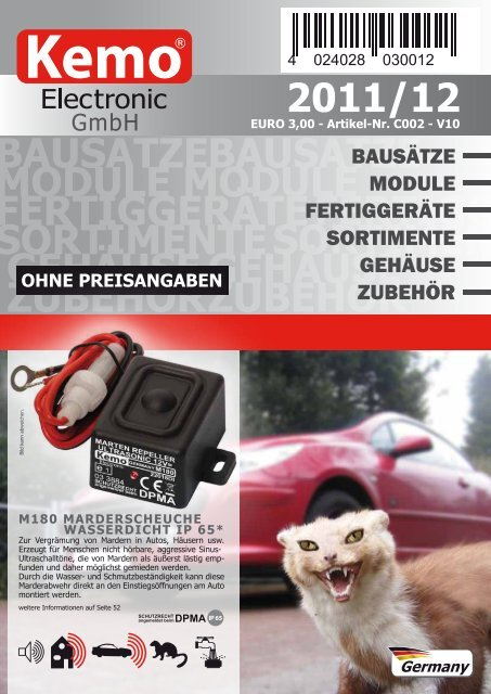 3er Pack Blinker Wechselblinker Flasher Kemo B003 Bausatz