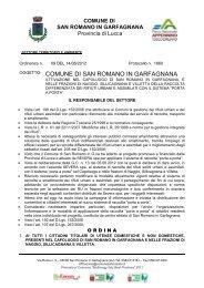 ordinanza raccolta differenziata - Comune di San Romano in ...