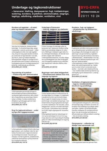 Undertage og tagkonstruktioner - Byg-Erfa