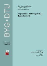 Fugttekniske undersøgelser på dansk hørmåtte - DTU Byg ...