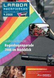 Regenbogenparade 2008 im Rückblick - LAMBDA-Nachrichten