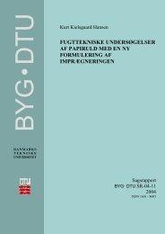 Fugttekniske undersøgelser at papiruld med - DTU Byg - Danmarks ...