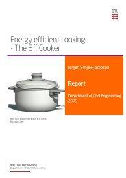 Energy efficient cooking - The EffiCooker - DTU Byg