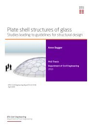 Plate shell structures of glass - DTU Byg