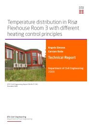 Temperature distribution in Risø Flexhouse Room 3 with ... - DTU Byg