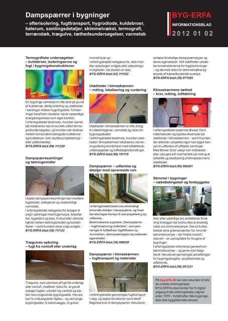 Dampspærrer i bygninger - Byg-Erfa