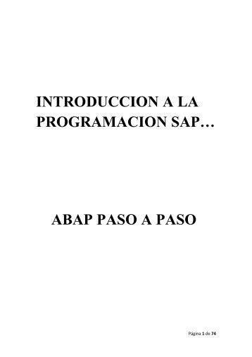 introduccion a la programacion sap… abap paso ... - Monografias.com