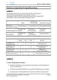 Lösung - Lehrstuhl für Betriebswirtschaftslehre – Controlling