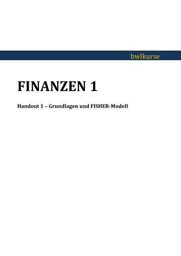 Beispielhandout Finanzen - BWL Kurse Frankfurt