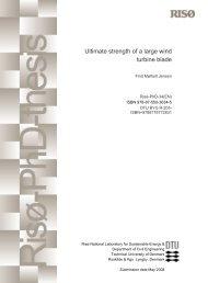Ultimate strength of a large wind turbine blade - DTU Byg