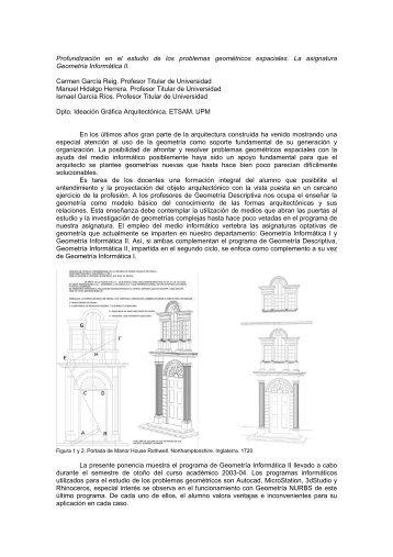 Profundizacin en el estudio de los problemas geomtricos espaciales