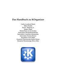 Das Handbuch zu KOrganizer - KDE Documentation