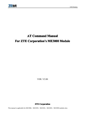 GSM/GPRS Module AT Command Mannual