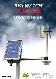 Operating manual - JDC Electronic SA