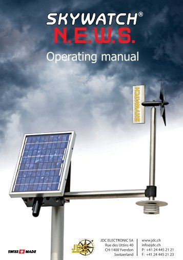 Operating manual - JDC Electronic SA