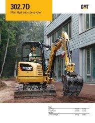 Specalog for 302.7D Mini Hydraulic Excavator AEHQ6207-02